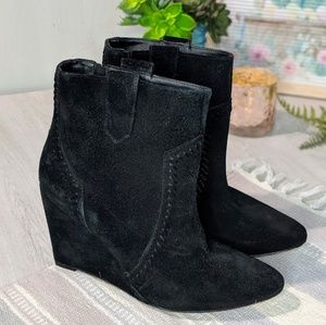 Rebecca Minkoff Bianca Suede Wedge Ankle Boots